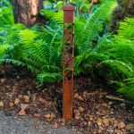 Ivy Design 2x2 Bollard Light in Weathered Steel Daytime