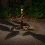 Ivy Light Bollard 2x2 at Night with Shadow Design
